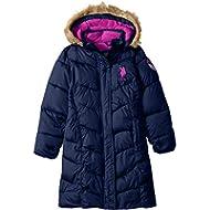 U.S. Polo Assn. Girls' Long Bubble Jacket
