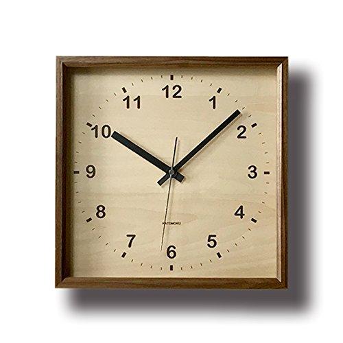 KATOMOKU muku square clock km-38B 木 ウォールナット 連続秒針 B00YTBIBDE