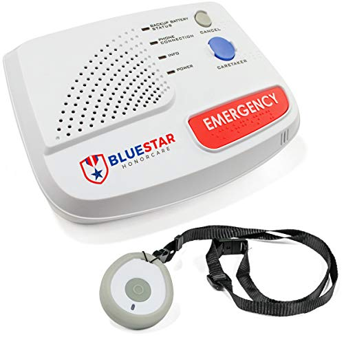 Sentry in-Home Medical Alert by BlueStar SeniorTech | Emergency Safety System for Seniors | 24/7 Monitor Response | One-Touch Help Button (Includes One Month Free)