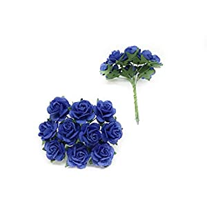 "1/2"" Royal Blue Mulberry Paper Flowers, Paper Roses, Blue Flowers, Floral Crown Flowers, DIY Wedding, Wedding Table Flowers, Navy Blue Wedding, Artificial Flowers, 50 Pieces 2"