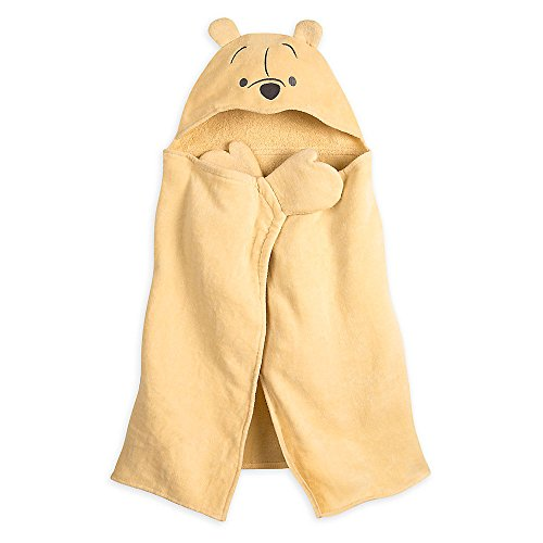 Disney Winnie The Pooh Hooded Towel for Baby - Brown