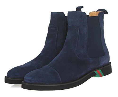 Hombres Botas Zapatos Ante Ponerse Cómodo Ligero Negro Soltero marrón Casual Moda Mocasín para Hombres Trabajo Fiesta tamaño 38-45 , blue , EUR 42/ UK 9 EUR 42/ UK 9|blue