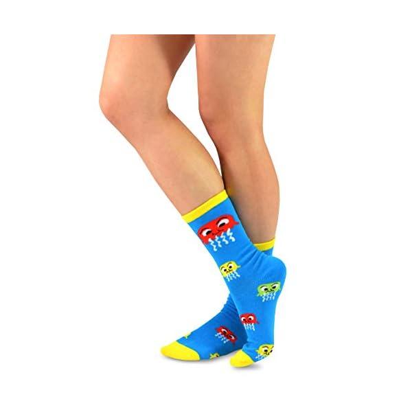 Teehee Novelty Cotton Crew Fun Socks 5-Pack For Women -