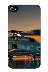Iphone 4/4s Hard Back With Bumper Silicone Gel Tpu Case Cover For Lover's Gift Helicopters Vehicles
