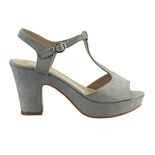 Fashion4Young Women's Court Shoes Pink Multicolor 10 Grey o9elDD9