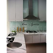 Bon Appetite Kitchen Quote - Vinyl Wall Art Decal Stickers Decor Graphics