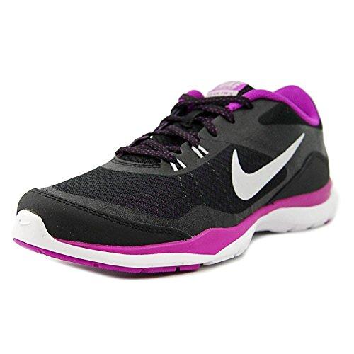 Nike Women's Flex Trainer 5 Shoe, nero/porpora/luminoso uva/metallico argento, 43 B(M) EU/8.5 B(M) UK