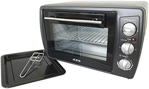 Ices eléctrica 20 litros horno en negro, hasta 230 grados, 1380 W ...