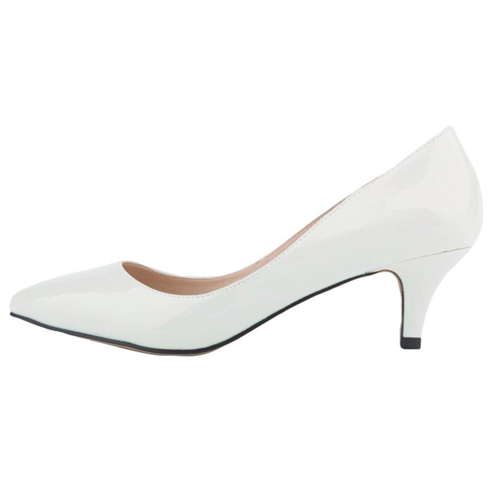WanYang Femme Chaussures Elegant Ladies Low Heel Shallow Mouth Femmes Bureau Work Talons Pointue Chaussures