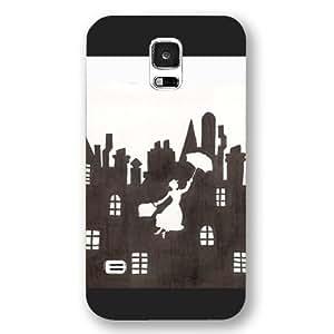 Customized Black Hard Plastic Disney Cartoon Mary Poppins Samsung Galaxy S5 Case