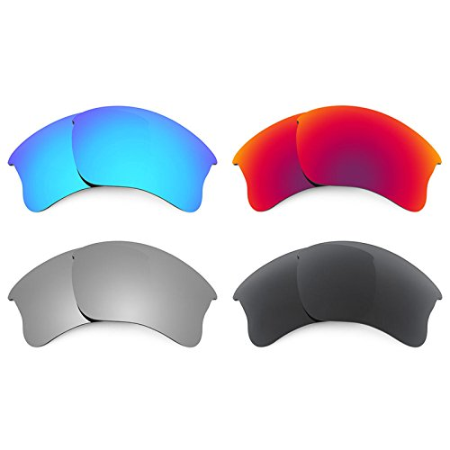 Revant Replacement Lenses for Oakley Flak Jacket XLJ 4 Pair Combo Pack - Lenses Xlj Jacket Flak G30