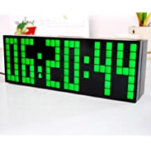 ZJchao(TM) Lattice LED Digital Alarm / Countdown/Up Clock with Remote (Green / 6-digit version)