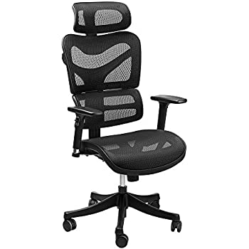 Latest Ergonomic Mesh fice Chair SIEGES Adjustable Headrest 3D Flip up Arms Back Model - Model Of office chair without wheels