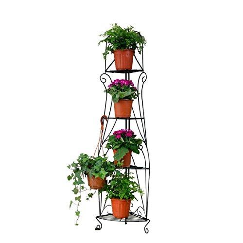 1. GO 4-Tier Steel Versatile Indoor/Outdoor Plant Shelf, 15
