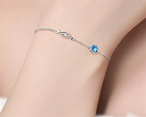 Royarebar Elegant Cosmetics Bracelet Fashion 12 Constellation Bracelet Silver Bracelet(Natural Topaz-Pisces)