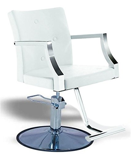 Classic White Hydraulic Barber Chair Styling Salon Beauty by Aegean