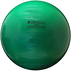 TheraBand Exercise & Stability Ball with 65 cm Diameter, Standard Fitness Ball for Improved Posture, Balance, Yoga, Pilates, Core Stability, & Rehab, Fitness Ball, Yoga Ball, Green