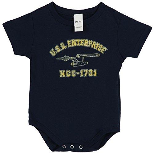 Star Trek USS Enterprise NCC-1701 Infant Baby Romper Snapsuit - Navy (24 Months)