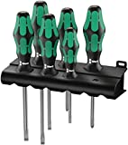Wera Kraftform Plus 334 Screwdriver Set and Rack, Lasertip, 6-Piece