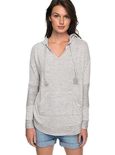 Hooded Shirt Roxy (Roxy Womens Cozy Chill - Hooded Sweatshirt - Women - XS - Grey Heritage Heather XS)