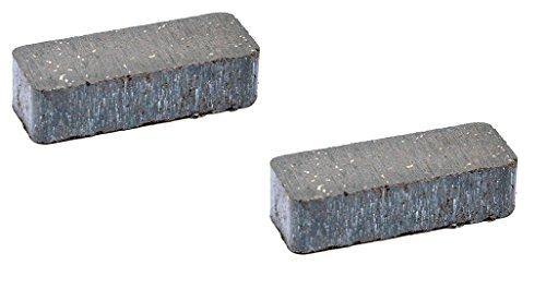 (Set of 2, Brake Pucks For Part number 120951X, 532120951 Craftsman, Husqvarna, Poulan.)