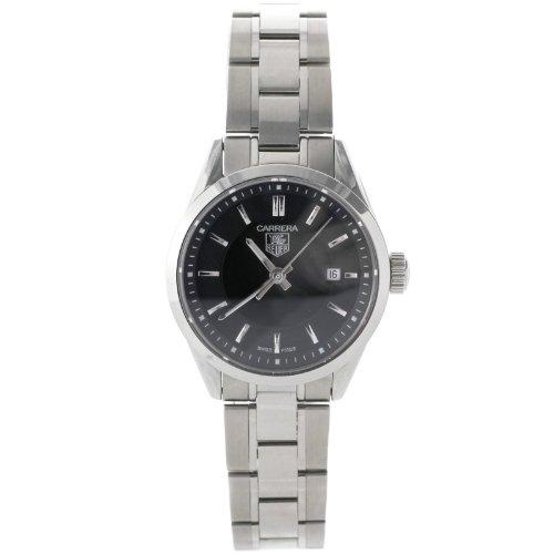 TAG Heuer Carrera WV1414 Stainless Steel Black Dial Swiss Quartz Ladies Watch