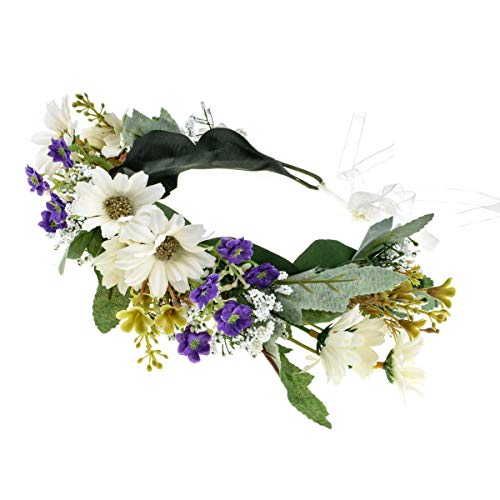 Love Sweety Rose Flower Headband Floral Crown Garland Halo (Daisy -
