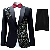 Product review for Cloudstyle Mens Suits Notched Lapel One-Button Wedding Party Blazer Dinner Jacket and Pants