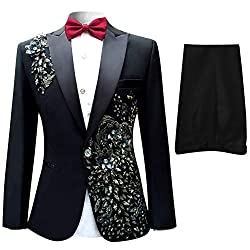 Notched Lapel One-Button Wedding Party Blazer