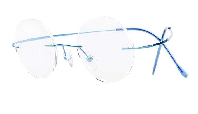 392e06e8ad Eyekepper Titanium Rimless Round Eyeglasses Circle Optical Frame   Amazon.co.uk  Clothing