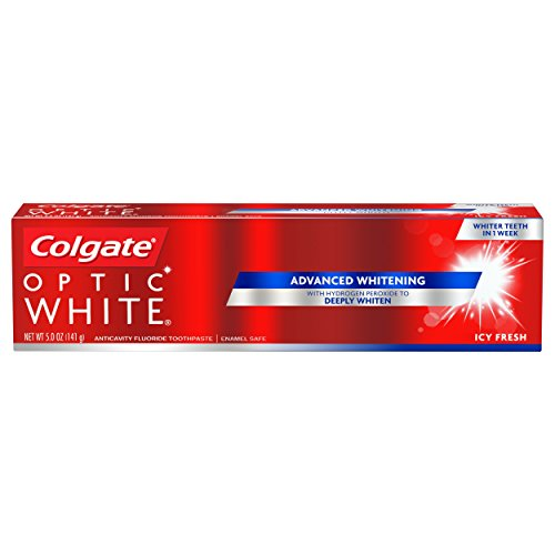 Colgate Optic White Whitening Toothpaste, Icy Fresh - 5 ounce