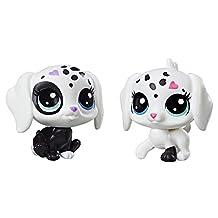 Littlest Pet Shop C2149AS00 Black & White BFFs Puppy 2 Pack