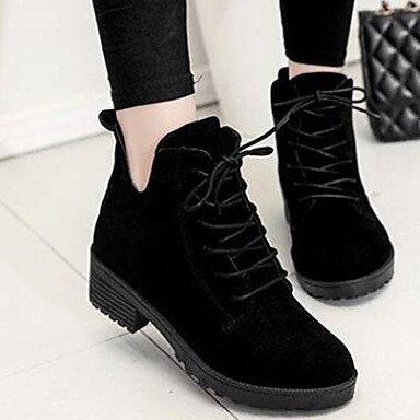 Para De 5 Invierno Negro Zapatos UK4 Botines De Botines CN37 Vestimenta Otoño Mujer Bota US6 Botas 5 RTRY Marrón EU37 7 Botas Casual Combate 5 Sintético gpwqCO0nIx