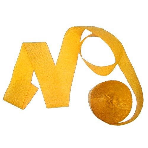 81' Yellow crepe streamer