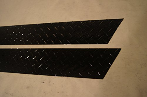 Jeep Diamond Plate 1997-2006 TJ Wrangler Gloss Black Off - Road 5 3/4 Rocker Panel Covers with NO Cut Outs