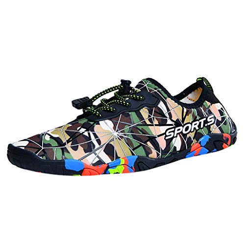 Amandaz Clothes Casual Camouflage Summer Sports Fitness Shoes Hiking Jogging Running Sneaker for Women Men ()