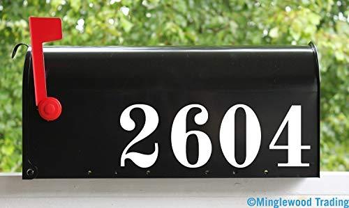 Vintage Style Mailbox Numbers Vinyl Sticker Die Cut Decal 2.5 inches OLDS - 2.5 Die Cut