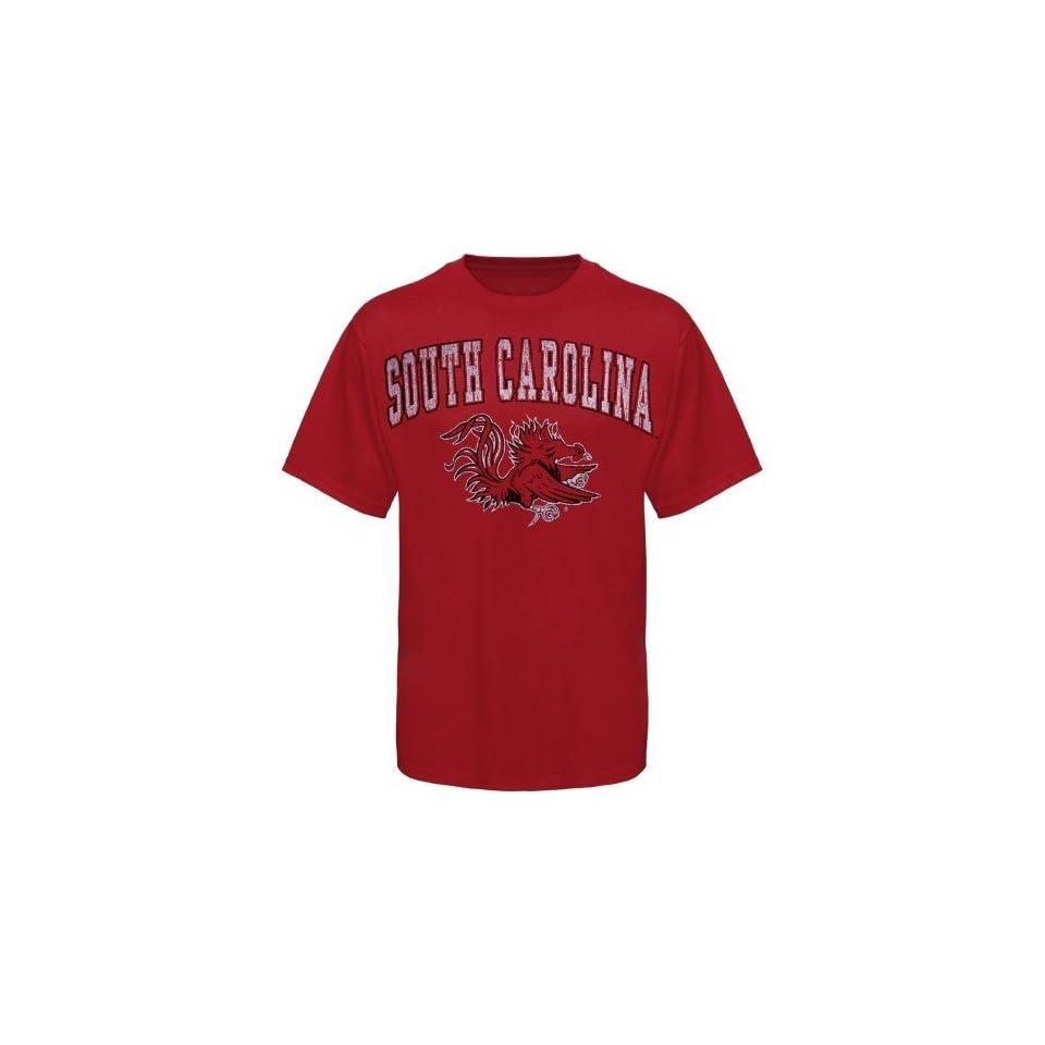 South Carolina Gamecocks Garnet Big Arch n Logo Distressed T shirt