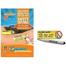 SafetyTat Child ID Tattoos (ALLERGY 6pk)
