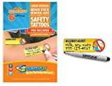 SafetyTat Child ID Tattoos (ALLERGY 6pk)