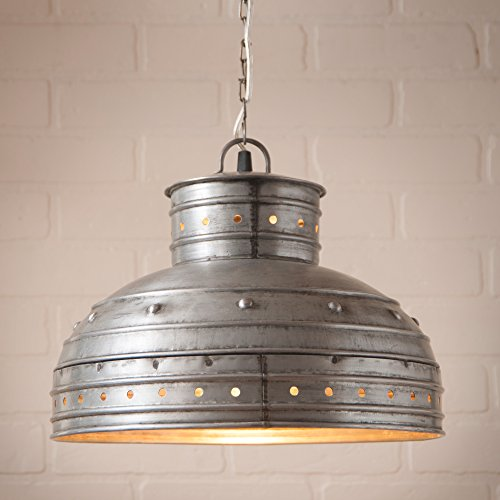(Breakfast Table Pendant in Brushed Tin)