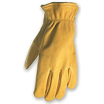 Deerskin Driver Gloves, Full Leather Work and Driving Gloves, Large (Wells Lamont 962L)