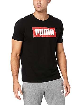 PUMA Men's Wording TEE, Cotton Black, M