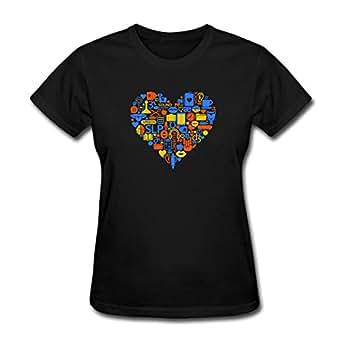 Speech-Language Pathology Heart SLP Women's T-Shirt by Spreadshirt, S, black