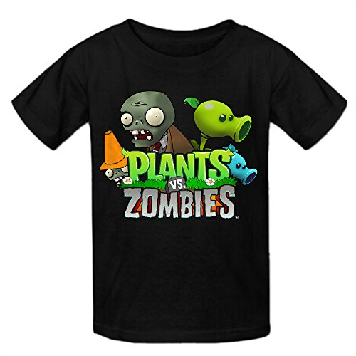Toypop Plants Vs Zombies Boys And Girls Cotton Crewneck T-shirt Personalized (Zombie Girl Clothes)