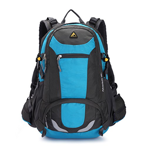 Kimlee 38L Sport Outdoor Daypack Camping Hiking Bag College Backpack Sky Blue