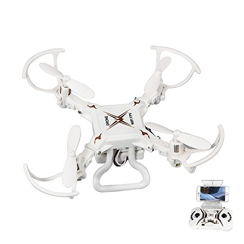 KingPow Mini Rc Drone Fpv Wifi 2.4Ghz 6-Axis Gyro 4 Channels 3D Flip 0.3MP HD Camera Quadcopter by KingPow