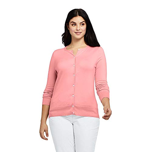 59fabb9230c Lands  End Women s Plus Size Supima Cotton Cardigan Sweater