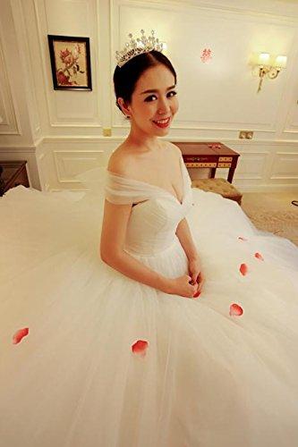Generic_send_three_meters_gloves_panniers]_ new bride wedding dress _word_ shoulder _one_meter_ large _tail by Generic