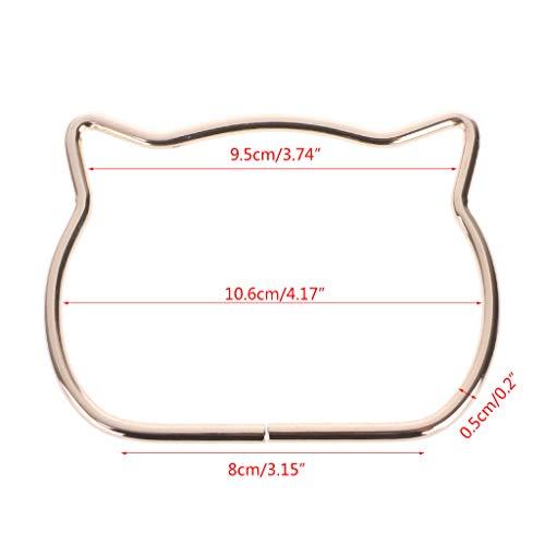 SimpleLif Metal Bag Handle,Cute Cat Ear Handle DIY Shoulder Bags Making Handbag Handle Replacement Accessories by SimpleLif (Image #8)